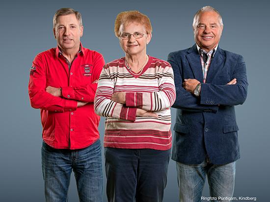 Sparvereinsteam: Franz Rothwangl, Elvira Seitinger, Günther Zierer
